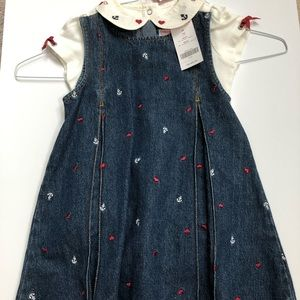 Gymboree size 3T girl shirt and dress NWT anchors